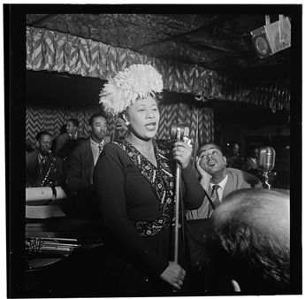 [Portrait of Ella Fitzgerald, Dizzy Gillespie, Ray Brown, Milt (Milton