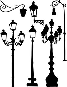Silhouettes of the city lights