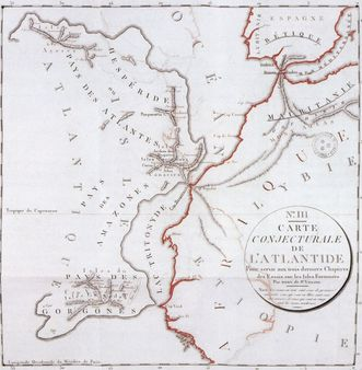 1 A map of Atlantis by Bory de Saint-Vincent in 1803 1 Une carte de l'