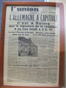 1 titre du journal local du 8 mai 1945, suite à la Category:L'Union