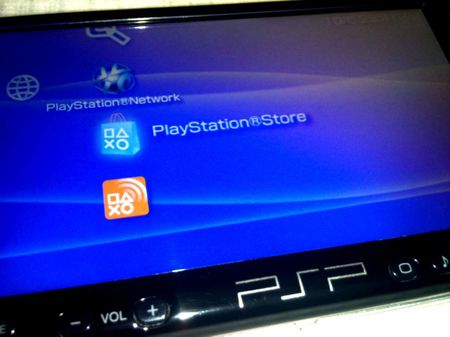 PSP2000, icône Playstation Store