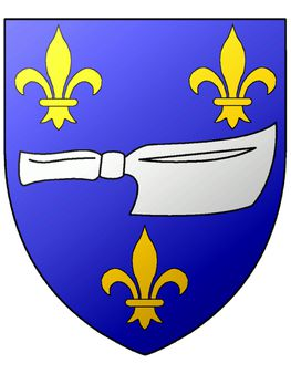 Blason de la Corporation des bouchers de Troyes (France) | Source Blas
