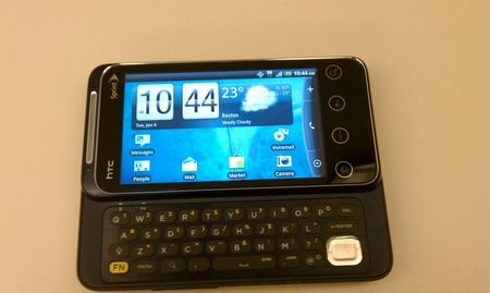 The HTC Shift 4G's keyboard