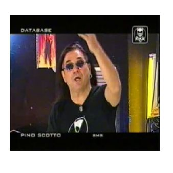 Il rocker Pino Scotto.