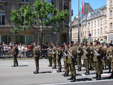 1 Luxembourgish soldiers on national day. | Source | Author Disquatuf