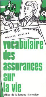 Vocabulaire des assurances sur la vie