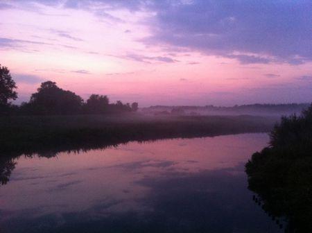 Sunset in Ommen at the Regge river