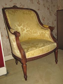 1 french armchair in the style louis xvi shepherdess1 bergre de - Fauteuil Ancien Bergere