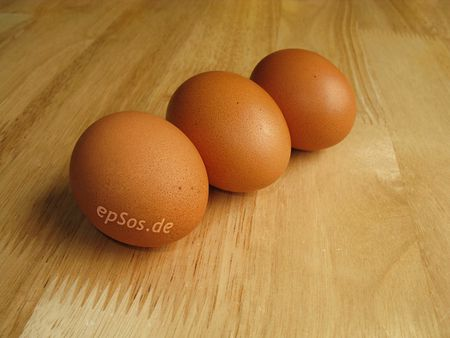 3 Brown Boiled Chicken Eggs