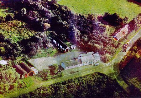 Aerial view of Hogg's Corner c1965, Eagralougher, Loughgall, Co Armagh