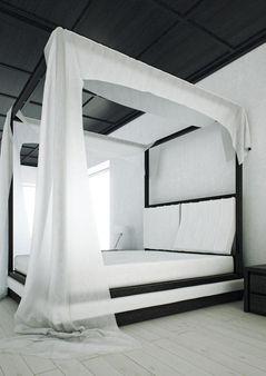 """Mazzali: """"WIND"""" canopy bed / il letto a baldacchino """"WIND"""". Bedroom ar"""