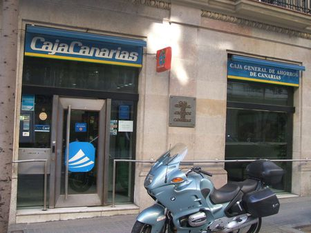 Caja Canarias branch in Barcelona; see also w:Savings bank Category:C