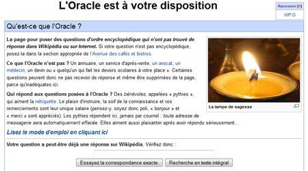 L'oracle de Wikipédia