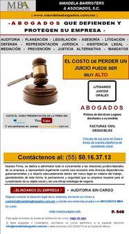 1 Firma de MBA | Source | Author Mandelaabogados | Date 1/06/11 | Pe