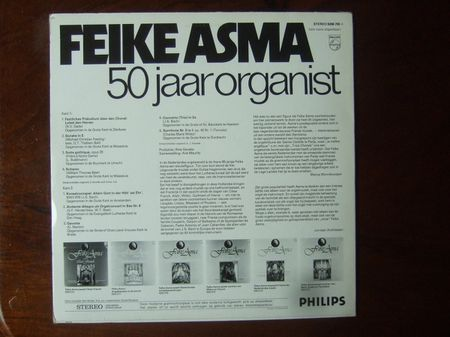 Backside Feike Asma - 50 Jaar Organist