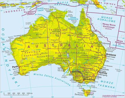 Map of Australia Mapa Australii Legenda. Image:Australia-legenda. png