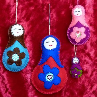 felt matroshka ornaments