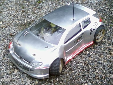 voiture thermique 206 WRC chromes 1/10 avio racing serie tunning