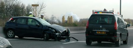 Accident on the E17