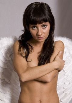 pretty sexy woman witn angel wings