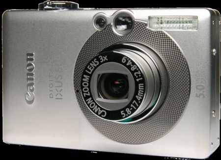 Canon Digital Ixus 50 front with transparent background | Source Image