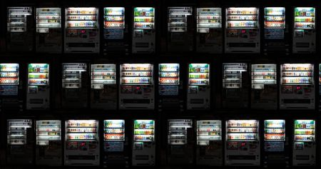 Japanese vending machines desktop background