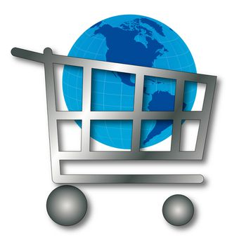 e-Shopping Trolley with Globe
