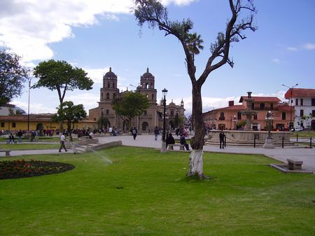 1 Plaza de Armas in Cajamarca | Source | Author Calebperu | Date | Pe