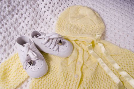 baby shoes and suit