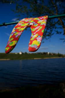 baby's pants drying on the wind