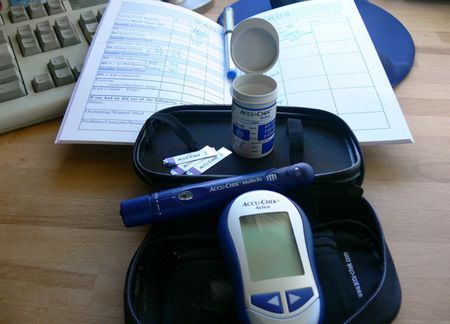 A kit used by a woman with gestational diabetes. | Category:Diabetes