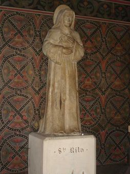 Statue of Sainte Rita in the church Saint-Ambroise in Paris 11e arrond