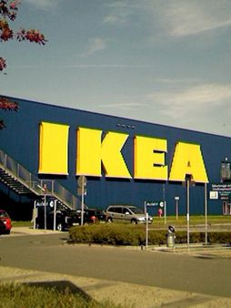 IKEA Logo in Blue and Yellow on Store