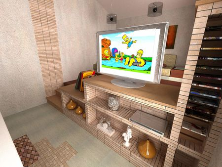 muebles con estanteras de escayola - Muebles De Escayola