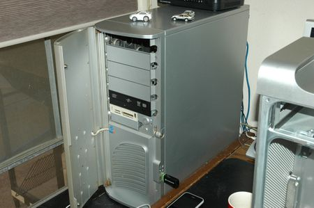 The old Thermaltake Shark PC case...