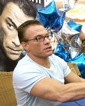 Jean-Claude Van Damme at a base exchange at Lackland Air Force Base, T