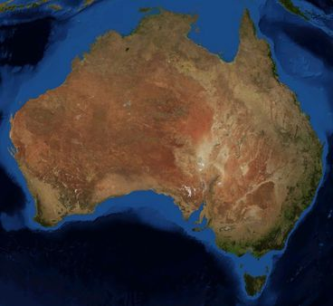 This is an image of Australia from space, made with World Wind using L