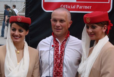 Ukranian and Emirates stewardesses