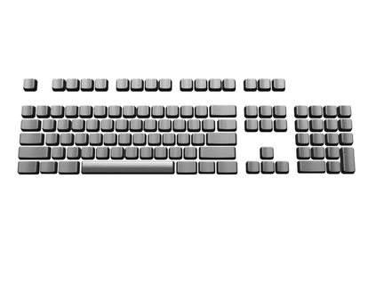keyboard isolated on a white background