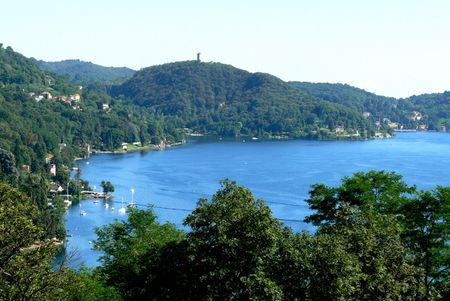 1 Lago d´Orta ( Piedmont ). View across the lake from Sacro Monte (