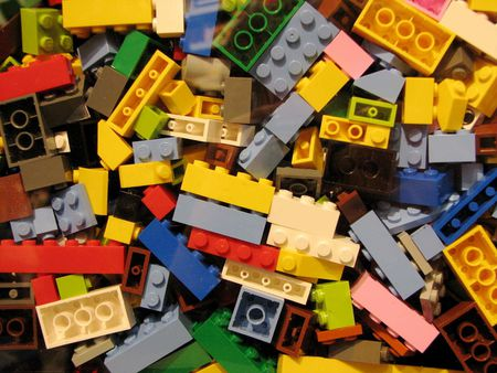 An assortment of Lego bricks from the LEGO store in the Downtown Disne