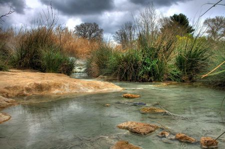 Hot spring in Saturnia (Italy)