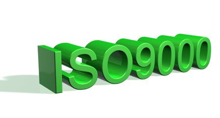 ISO9000 in white background
