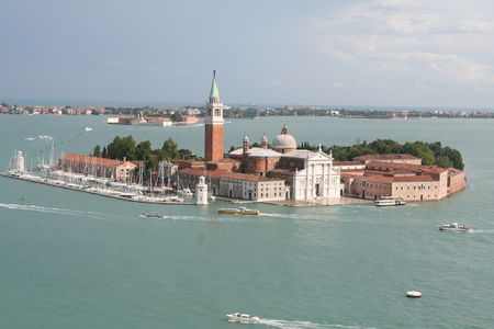 aerial view of venice italy