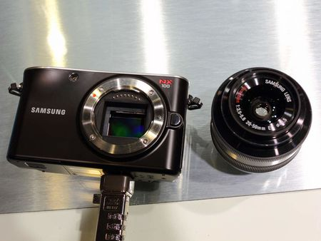 1 Samsung NX100 , a mirrorless interchangeable lens camera | Source |