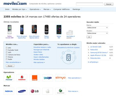 Captura de pantalla de Moviles.com