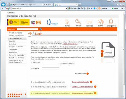 Captura de pantalla de Nic.es (4)