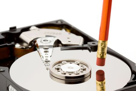 open hard disk drive studio isolated