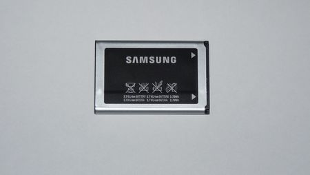 1 Li-ion battery from Samsung mobile phone.   Source   Author Dmitry