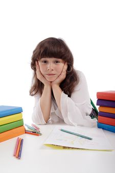 Portrait of a styled children. Theme: education..